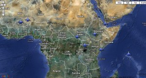 Known U.S. drone and surveillance flight bases in Africa February 2013